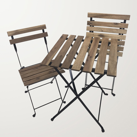 wooden metal folding chair